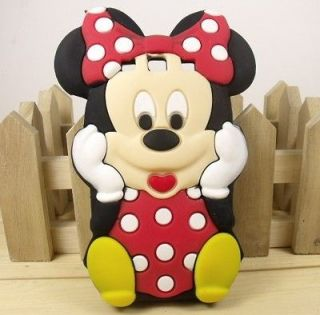 3D Mickey Minnie Mouse silicone TPU cover case for Samsung Galaxy S3