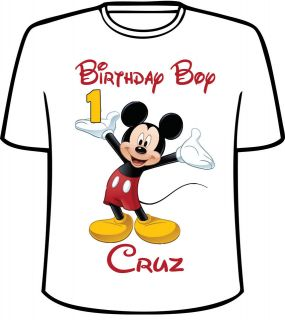 personalized disney mickey mouse style b birthday t shirt