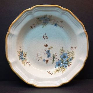 Mikasa Garden Club Day Dreams Cereal/Soup Bowls Blue Floral flowers