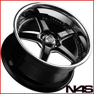 BRAND NEW 19 INFINITI G35 COUPE VERTINI DRIFT BLACK STAGGERED WHEELS