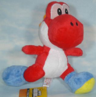 US USA SELLER SUPER MARIO BROTHERS SOFT PLUSH MWT 8 RED RUNNING YOSHI