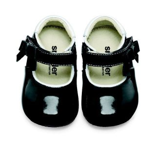 See Kai Run Baby Girls Black Patent Leather Mary Jane Shoe W/Bow Fall