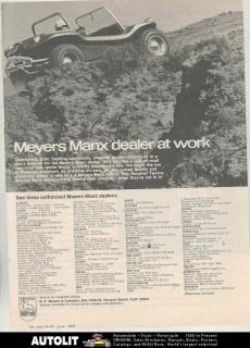 1968 meyers manx vw kit car dune buggy ad time