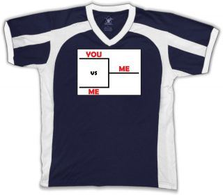 You Versus Me Game Mens V neck Sport T shirt Player Sport Pro