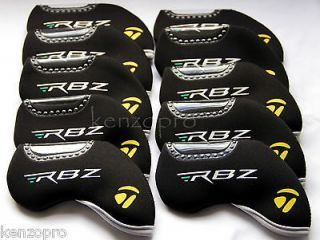 RBZ 10PCS SET 2013 Black Iron Headcover Neoprene Golf Club Cover
