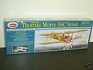 Guillows #201 Thomas Morse Scout Balsa wood Airplane model Kit New in