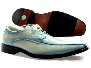 New Mens Dress Shoes Lace Oxfords Classic Ostrich Crocodile Pattern
