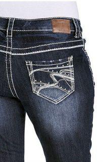 MAURICES Jeans Denim Flex PLUS SIZE 20 Regular 42 x 32 RHINESTONE