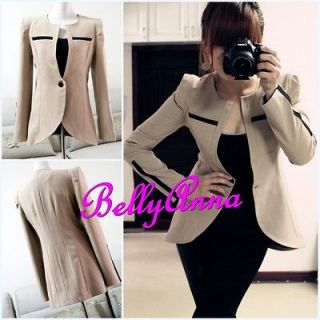 Womens Elegant OL High Quality Slim Fit Tuxedo Blazer Jacket Suit Coat