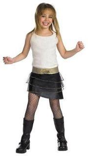 new girls disney hannah montana miley costume 10 12 time