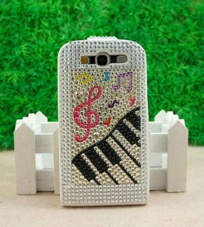 Bling Melody Leather Flap Flip Case For Samsung Galaxy SIII S3 I9300