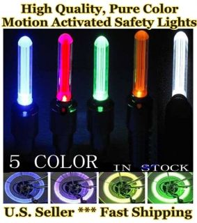 Tire Wheel Valve Safety LED Bicycle Car Motorcycle Bike Lights