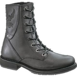 Mens Harley Davidson PLACID EAGLE Motorcycle Boots Sz 10.5M Black New