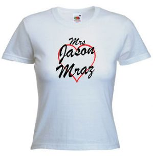 mrs jason mraz t shirt print any name words more options size colour