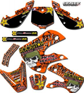 2002 2003 2004 2005 2006 2007 2008 SX 50 GRAPHICS KIT KTM SX50 50SX