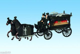 NOCH 16714 HO (1/87) HORSE DRAWN HEARSE with 2 HORSES, 2 UNDERTAKERS