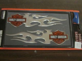 9401F CHROMA HARLEY DAVIDSON MOTORCYCLES DECAL 8.5 X 2 DOMED