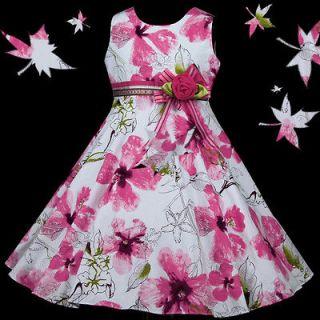 w123 Ivory Wedding Party Pinks Bridal Sleeves Flower Girls Dress 3