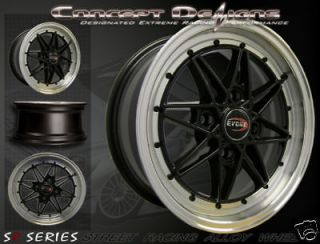Newly listed 15 EVOKE C16 WHEELS RIMS ALLOY 4 LUG GLOSS BLACK 4X100
