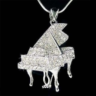 Swarovski Austrian Crystal MUSIC Baby Grand Piano Player Pendant