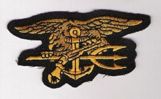 HALLOWEEN COSTUME PARTY PROP PATCH US NAVY SEAL TEAM INSIGNIA PATCH