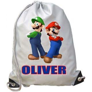 super mario bros personalised school pe swim gym bag  9 54