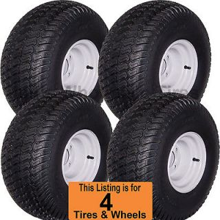 20x10.00 8 Golf Cart Tires Wheels Rims fits EZGO Club Car Yamaha