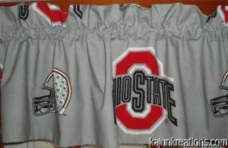 VALANCE with OHIO STATE UNIVERSITY osu buckeyes NCAA COLLEGE fabric