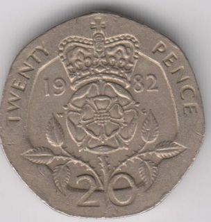 1982   Twenty Pence  Great Britain   We Combine Shipping (5 for $1.50