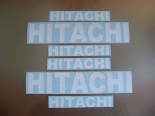 hitachi stickers decals forklift mini digger excavator time left $