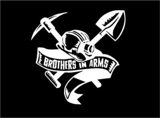 Brothers in Arms Crest Car Truck Window Mirror Decal Sticker Graphic