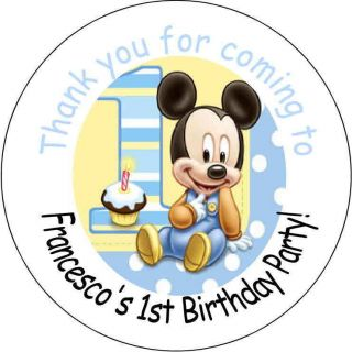 Mickey Mouse Personalized favor stickers personalized Birthday party