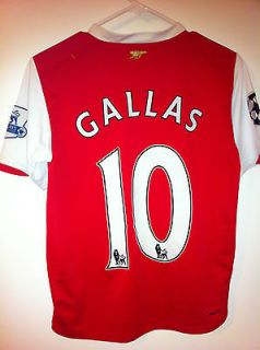 Vintage Gallas red devils Arsenal Jersey Nike Dri Fit Youth Large