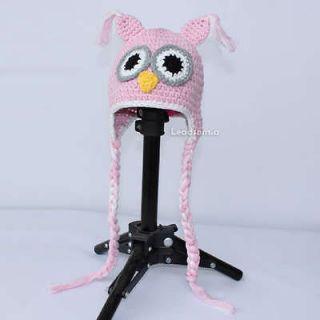 newborn baby owl ear flap crochet beanie handmade hat ym81