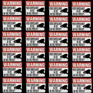 OUTDOOR SECURITY SPY CAMERAS WARNING WINDOW+DOOR STICKERS DECALS LOT
