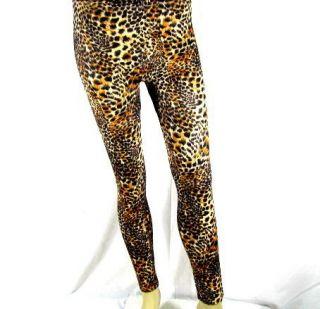 silky ladies tom cat leopard print leggings s m l