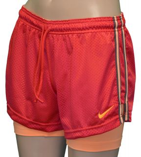nike women s pro combat double up shorts red