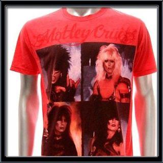 Sz M Motley Crue T shirt Tommy Lee Rock Music Band Tour Red