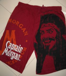 NEW PIRATE CAPTAIN MORGAN RUM COTTON BOXER SHORTS UNDERWEAR L (36/38