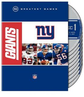 NFL New York Giants   10 Greatest Games DVD, 2009, 10 Disc Set