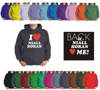 MEDIUM I LOVE NIALL HORAN HOODIE LOVES ME. 1 ONE DIRECTION 22 COLOURS