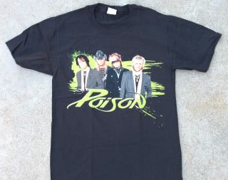 Poison Live Raw & Uncut 2008 Concert Tour Black Tee Shirt Tour Dates