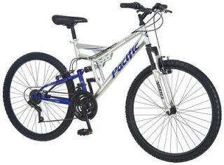 """Pacific 26"""" Men's Chromium Full Suspension Mountain Bike Bicycle"""