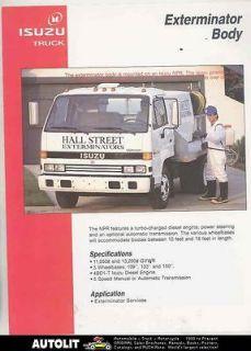 1991 isuzu npr exterminator diesel truck us brochure time left