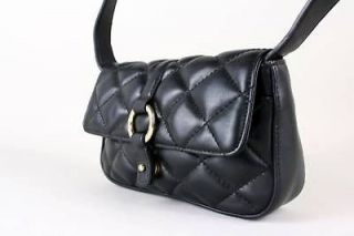 gorgeous nine west black quilted shoulder bag purse wow