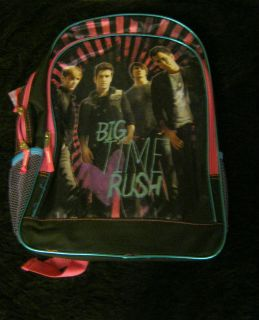 New Pop Stars Big Time Rush back pack book bag school supplies black