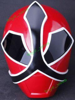 W17 Painted Samurai Red Power Rangers Shinkenger Cosplay Rusin Helmet