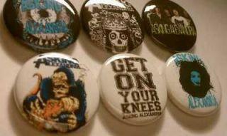6x asking alexandria buttons badges shirt pins pinbacks
