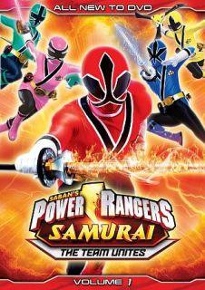 Power Rangers Samurai, Vol. 1 The Team Unites DVD, 2012