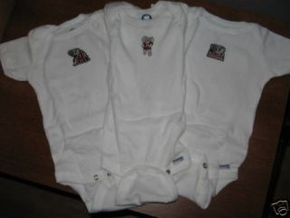 set of 3 alabama crimson tide infant onesies 0 18 mos